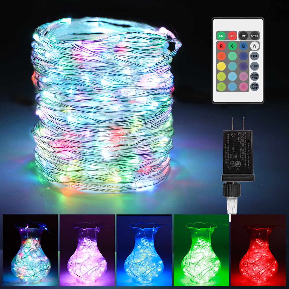 66ft 200 LEDs Color Changing Plug In Fairy Lights with Remote and Timer